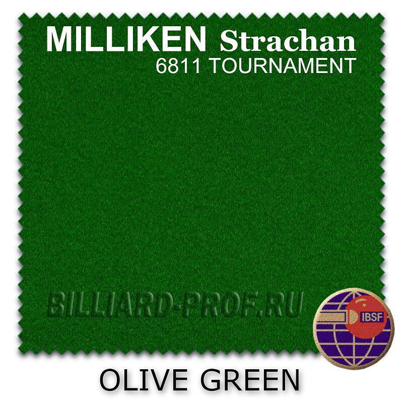 Бильярдное сукно Milliken Strachan Snooker 6811 Tournament, 32 oz (193 см) olive green