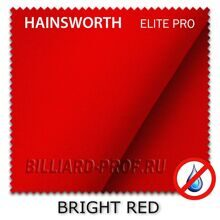 Бильярдное сукно Hainsworth Elite Pro Waterproof (198 см) bright red