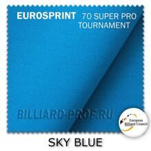 Бильярдное сукно Eurosprint 70 SUPER PRO Tournament (198 см) sky...