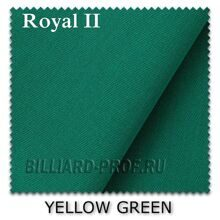 Бильярдное сукно в рулоне Royal II (198 см) yellow green