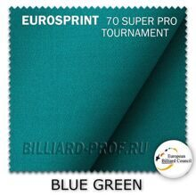 Бильярдное сукно Eurosprint 70 SUPER PRO Tournament (198 см) blue...