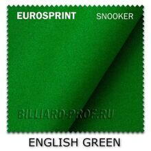Бильярдное сукно Eurosprint Snooker, 30 oz (196 см) english green