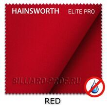 Бильярдное сукно Hainsworth Elite Pro Waterproof (198 см) red
